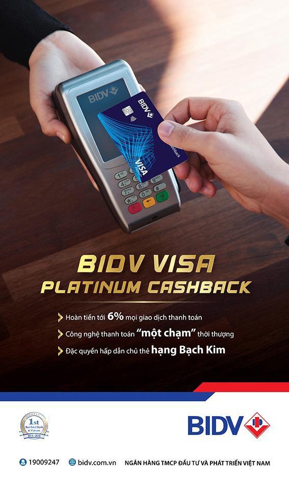 Thẻ tín dụng BIDV Visa Platinum Cashback