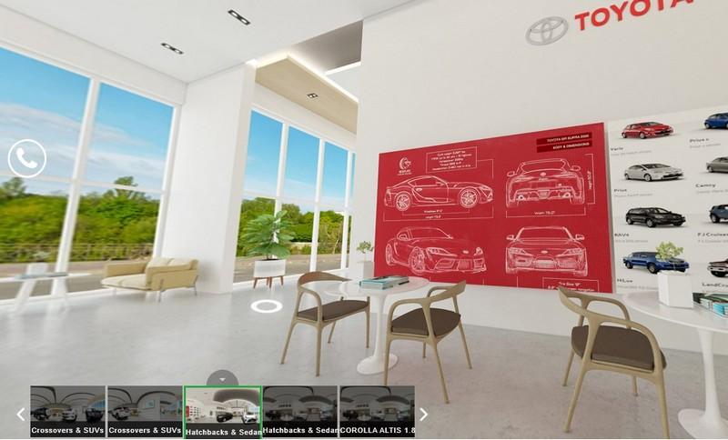 Đại lý thực tế ảo 3D của Toyota Philippines