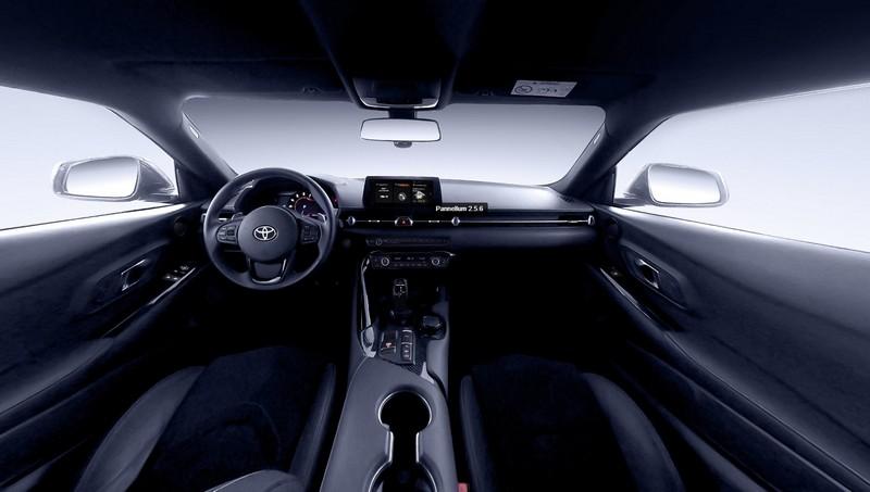 Nội thất xe Toyota Supra xem bằng tính năng hình ảnh 360 độ