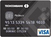 Ngân hàng Techcombank - Thẻ Visa Bạch kim
