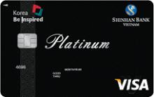 Ngân hàng ShinhanBank - Thẻ Visa Bạch kim - Korea Be Inspired