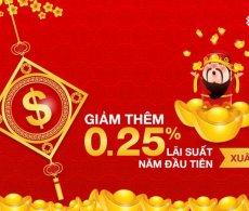 Xuân Mới Tri Ân – Lộc tài bất tận: Giảm 0,25% lãi suất năm đầu khi đăng ký vay ngân hàng qua Topbank.vn
