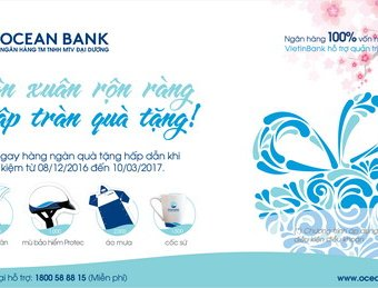 Tân xuân rộn ràng, ngập tràn quà tặng khi gửi tiết kiệm tại OceanBank