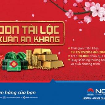 Đón tài lộc xuân an khang, món quà của NCB dành cho khách hàng