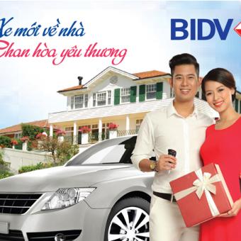 Vay mua xe ôtô tại BIDV 2018 với lãi suất ưu đãi từ 7,3%/năm