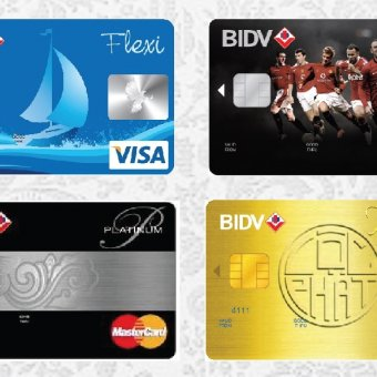 Lãi suất 5 loại thẻ tín dụng Visa ngân hàng BIDV