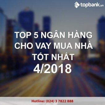 Top 5 ngân hàng cho vay mua nhà lãi suất hấp dẫn nhất tháng 4/2018
