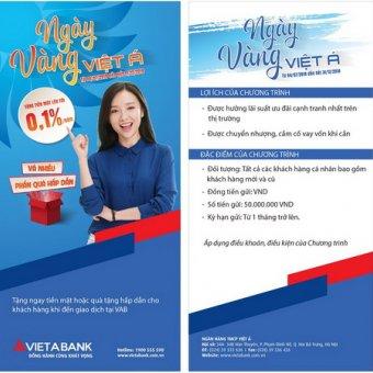 VietABank triển khai chương trình Ngày vàng Việt Á