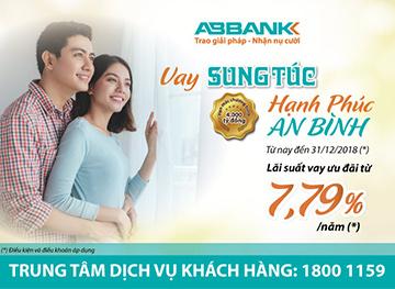 """""""Hạnh phúc an bình cùng ABBank ABBank ưu đãi lãi suất vay mua nhà, vay mua xe ..."""