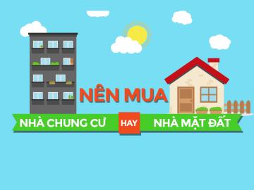 [Infographic] Nhà chung cư và nhà mặt đất, nhà nào tốt hơn?