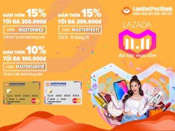 Đại tiệc mua sắm cho thẻ LienVietPostBank MasterCard trên Lazada với khuyến mãi cực hấp dẫn