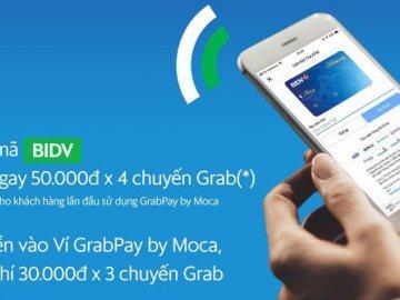 Nhận ngay mã giảm 50.000 đồng khi đi Grab bằng tài khoản BIDV