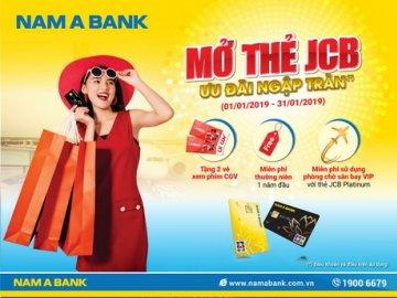 Mở thẻ Nam Á Bank JCB - Ưu đãi ngập tràn