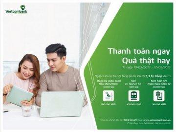 Ưu đãi dành cho khách hàng sử dụng các tính năng trên Ngân hàng điện tử Vietcombank