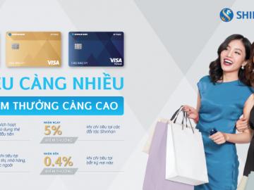 So sánh các loại thẻ tín dụng Shinhan hấp dẫn nhất