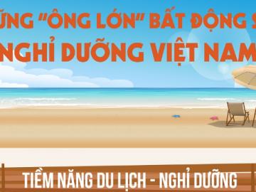 """[Infographic] Những """"ông lớn"""" bất động sản nghỉ dưỡng Việt Nam"""