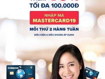 Ưu đãi LAZADA khi thanh toán bằng thẻ quốc tế Eximbank MasterCard