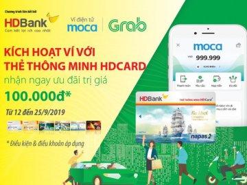 Giảm 50% dịch vụ Grab khi thanh toán bằng thẻ HDBank
