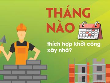 [Infographic] Tháng nào thích hợp khởi công xây nhà?