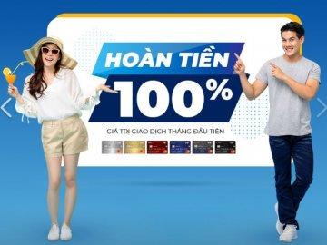 VIB hoàn tiền 100% giá trị giao dịch cho chủ thẻ tín dụng mới