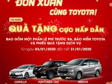 Khuyến mãi Toyota tháng 1/2020: Altis, Innova, Fortuner nhận quà tặng hấp dẫn