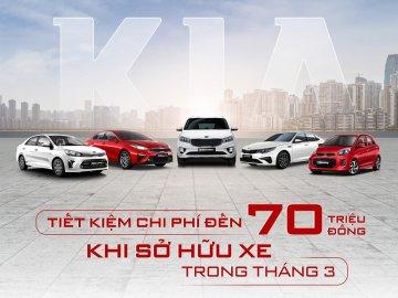 Ưu đãi lên đến 70 triệu đồng cho khách hàng mua xe Kia trong tháng 3/2020