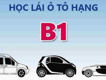 Bằng B1 được lái xe gì? Hướng dẫn cách đăng ký thi bằng B1