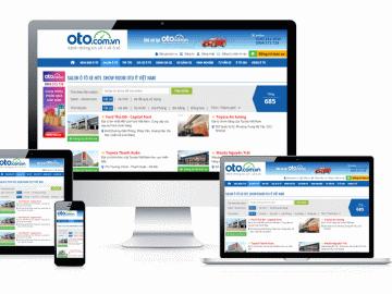 Giao diện mới của oto.com.vn năm 2020