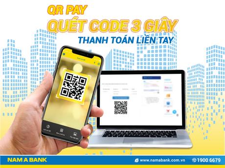 Quà tặng hấp dẫn khi thanh toán bằng QR Pay trên Nam A Bank Mobile Banking