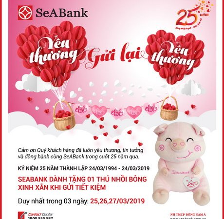 Seabank dành hàng nghìn quà tặng tri an khách hàng nhân kỷ niệm 25 năm thành lập