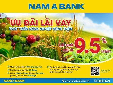 Nam Á Bank ưu đãi lãi vay, tháo gỡ khó khăn cho nông dân Việt