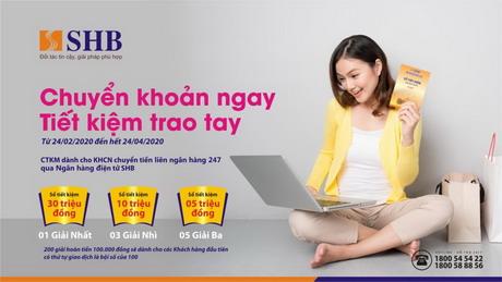 Ngân hàng SHB dành nhiều ưu đãi cho khách hàng giao dịch Online