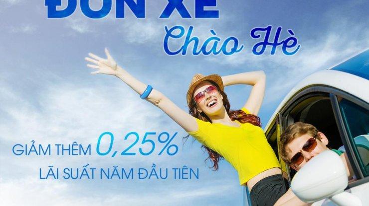Đón xe - Chào hè: Giảm thêm 0,25% lãi suất năm đầu khi đăng ký vay mua xe qua Topbank.vn