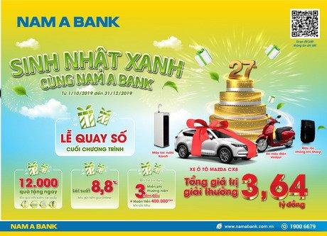 Cơ hội rước xe sang mừng sinh nhật Nam Á Bank
